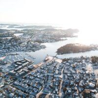 Skjærgården i Larvik vinterstid, fotokunst veggbilde / plakat av Tor Arne Hotvedt