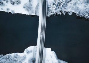 Vinterskog fra oven, fotokunst veggbilde / plakat av Peder Aaserud Eikeland