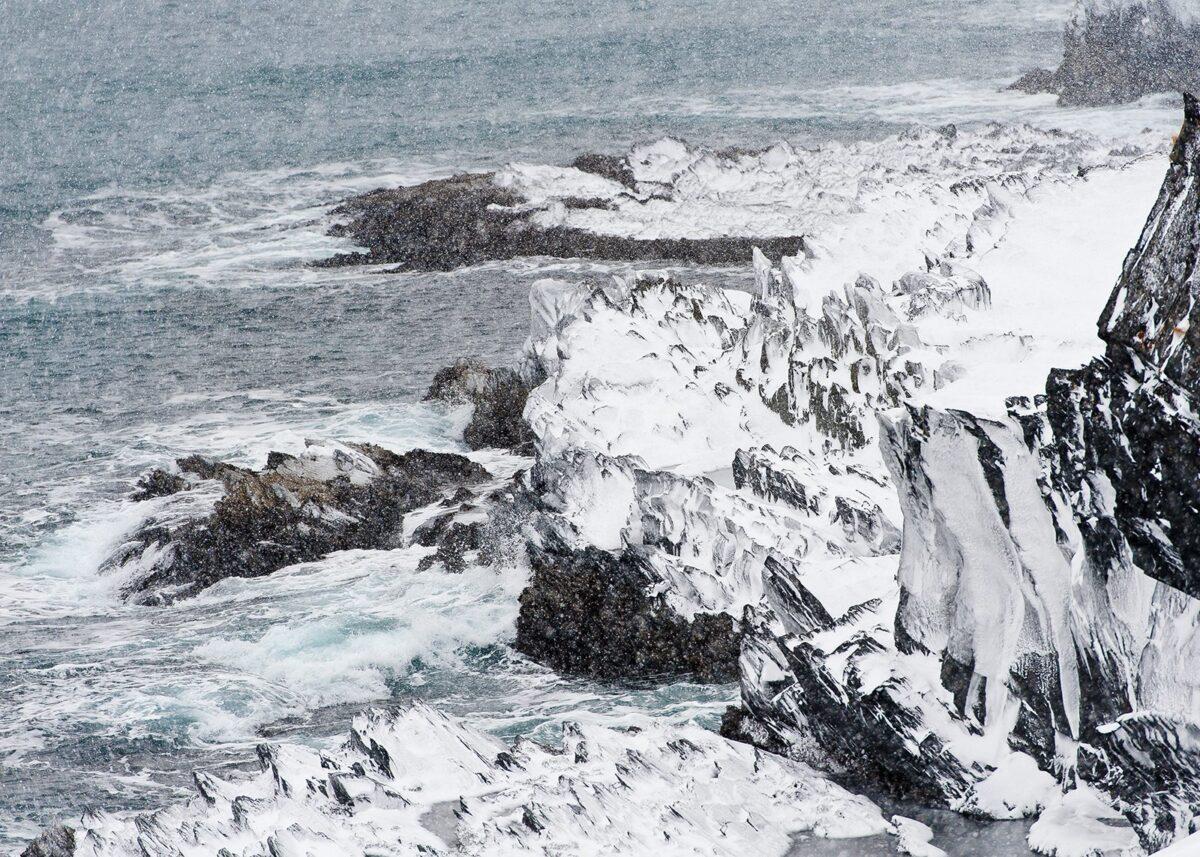 Snøstorm i Varanger, fotokunst veggbilde / plakat av Terje Kolaas