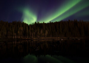 Nordlys over Vefsn I, fotokunst veggbilde / plakat av Terje Kolaas
