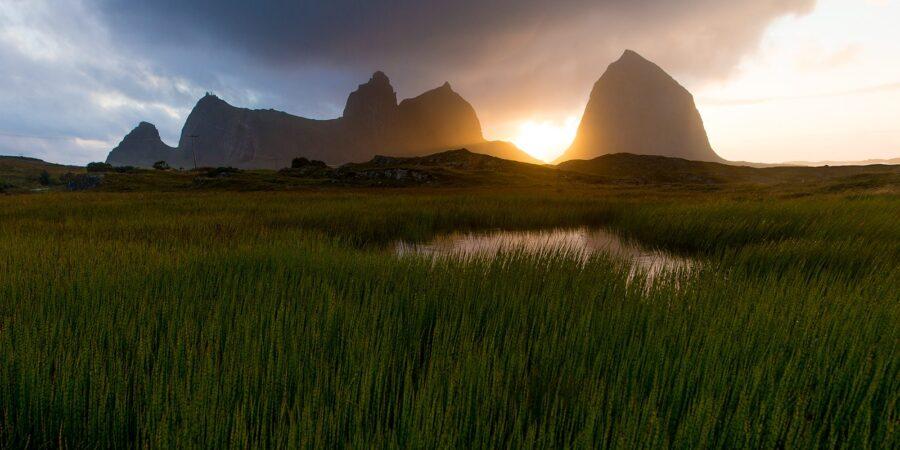 Solnedgang på Træna av Terje Kolaas