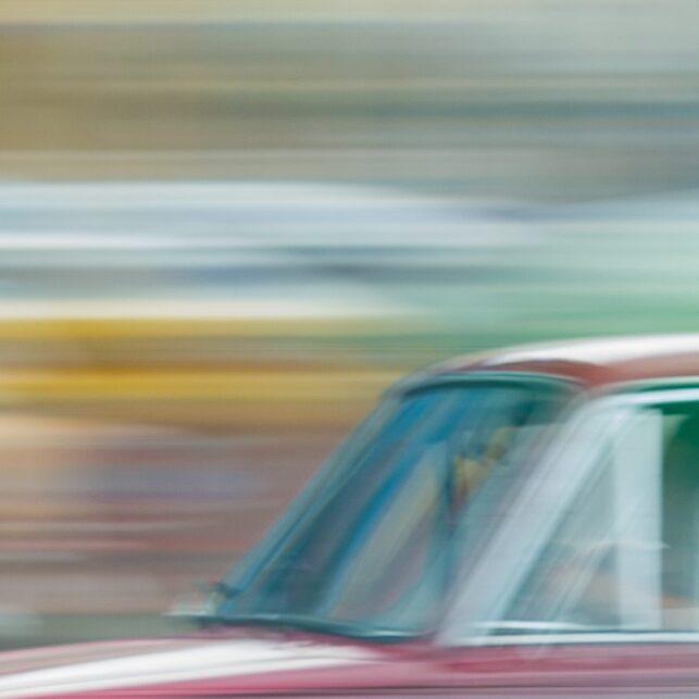 Racerbil i Havana, fotokunst veggbilde / plakat av Terje Kolaas
