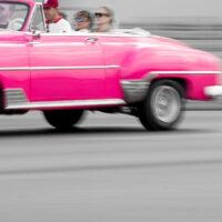 Pink chevrolet årsmodell 1952, fotokunst veggbilde / plakat av Terje Kolaas