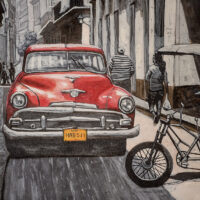 Gatekunst - Ford/Mercury i Havanna av Terje Kolaas