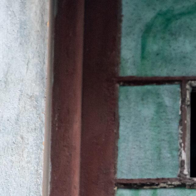 Hund i vindu, fotokunst veggbilde / plakat av Terje Kolaas