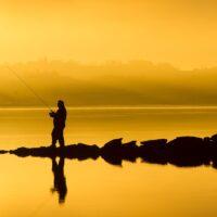 Fiskeidyll, fotokunst veggbilde / plakat av Terje Kolaas