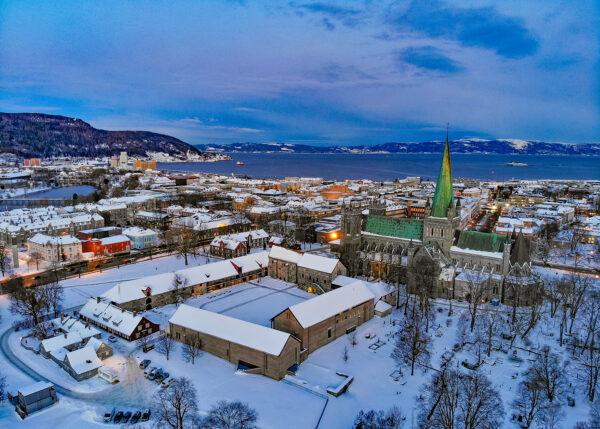 Vintermorgen i Trondheim av Terje Kolaas