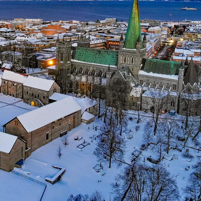 Vintermorgen i Trondheim, fotokunst veggbilde / plakat av Terje Kolaas