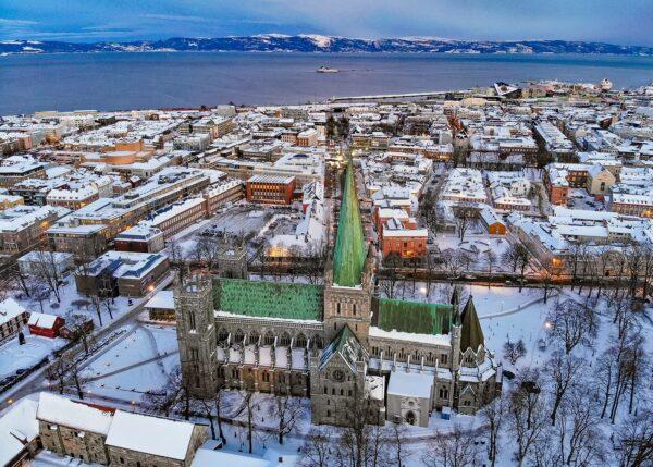 Vintermorgen i Trondheim II av Terje Kolaas