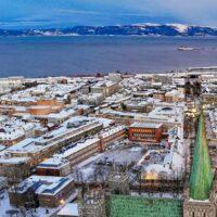 Vintermorgen i Trondheim II, fotokunst veggbilde / plakat av Terje Kolaas