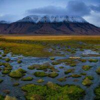 Panorama fra Adventdalen, fotokunst veggbilde / plakat av Terje Kolaas