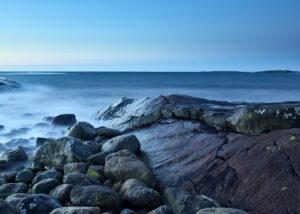 Water and rocks, fotokunst veggbilde / plakat av Tom Erik Smedal