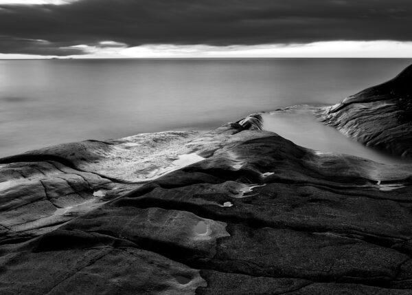 Soloppgang over Arendal, fotokunst veggbilde / plakat av Tom Erik Smedal