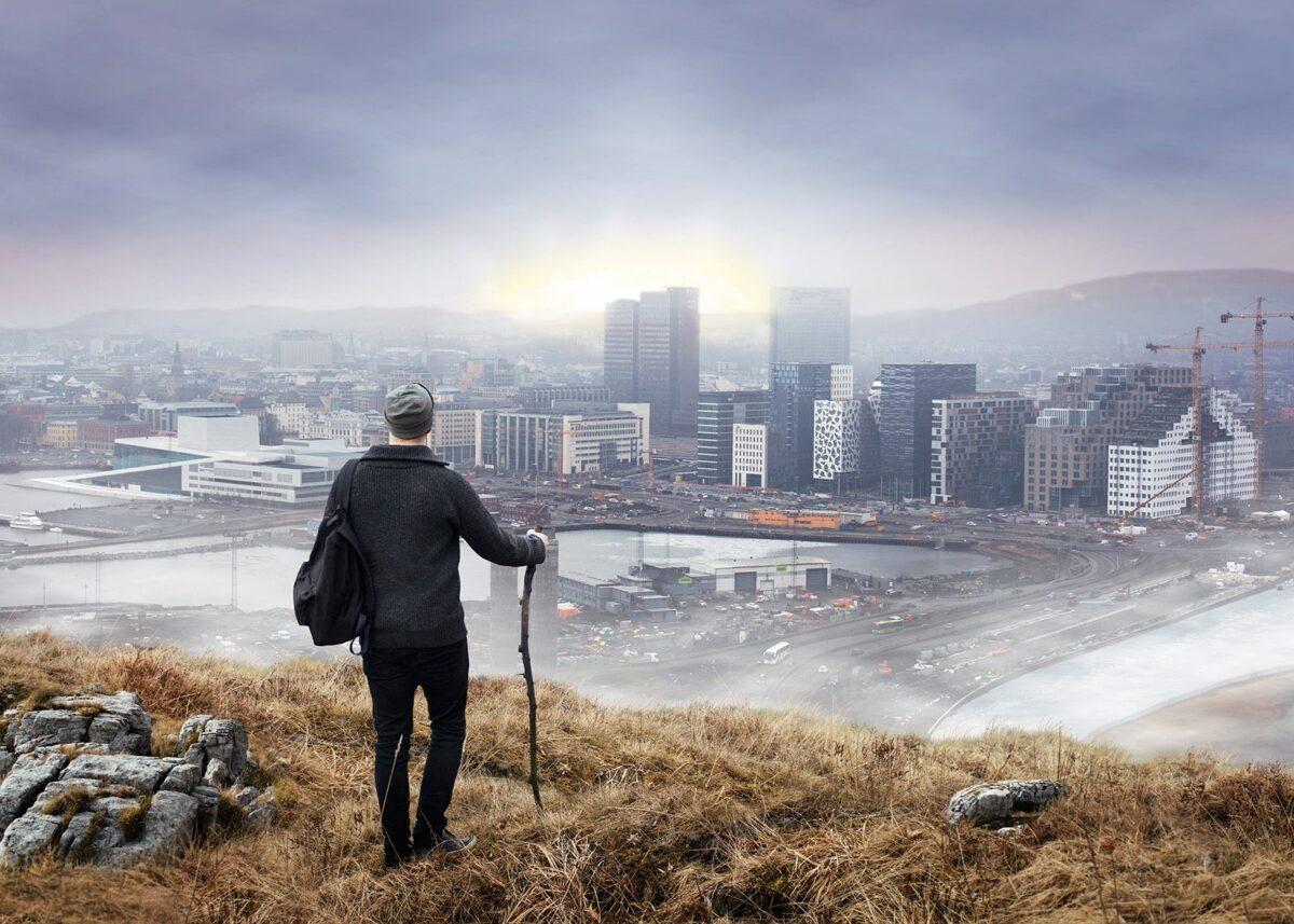 Oslo - Soria Moria, fotokunst veggbilde / plakat av Thor Håkon Ulstad