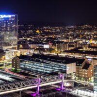 Oslo by Night, fotokunst veggbilde / plakat av Thor Håkon Ulstad