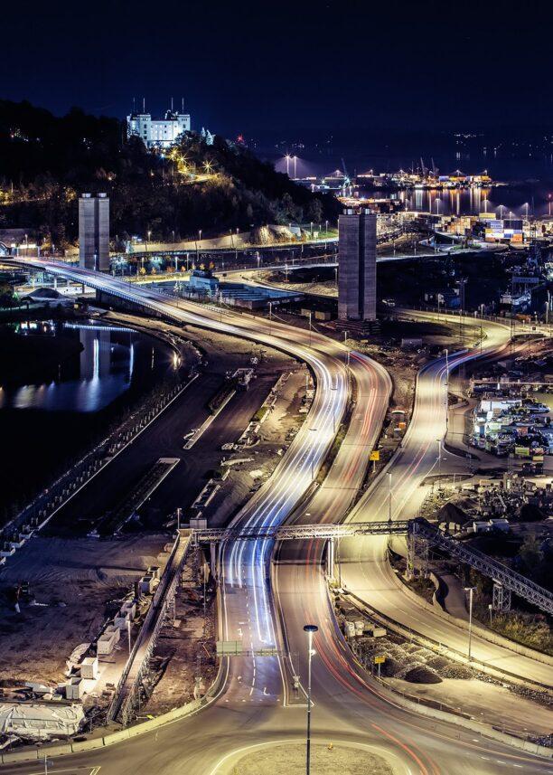 Oslo by night II, fotokunst veggbilde / plakat av Thor Håkon Ulstad