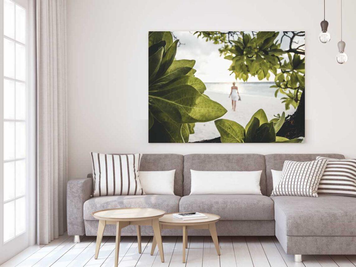 Strandlangs på Maldivene, fotokunst veggbilde / plakat av Tor Arne Hotvedt