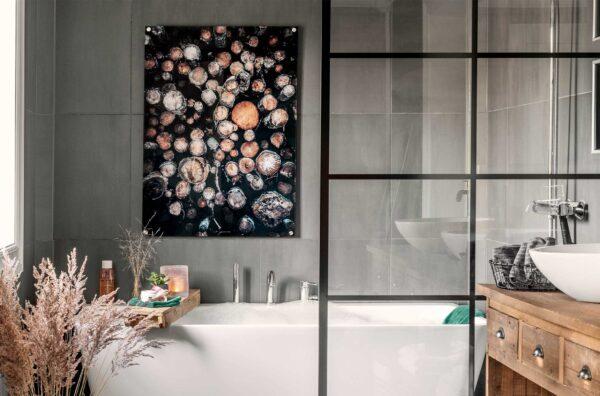 Tømmer på akryl 70x100cm 4mm, fotokunst veggbilde / plakat av Veggbilder