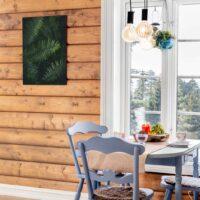 Våte bregner på alu-plate 50x70cm, fotokunst veggbilde / plakat av Veggbilder