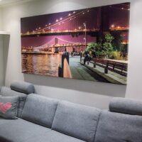 Brooklyn Bridge og Manhattan Bridge kveld, fotokunst veggbilde / plakat av Peder Aaserud Eikeland