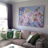 Kirsebærtre i blomstring, fotokunst veggbilde / plakat av Magne Tveiten