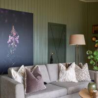 Geitrams lyst opp av de siste solstrålene for dagen, fotokunst veggbilde / plakat av Tor Arne Hotvedt